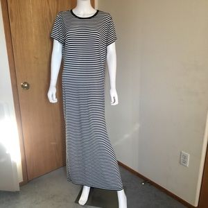 Michael Kors Maxi Dress Black White XL